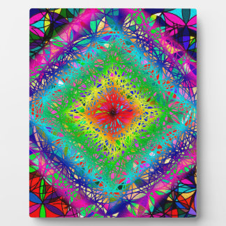 Psychedeli colors and Crystal Plaque