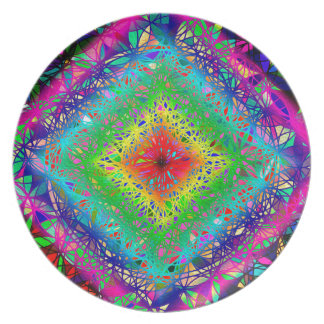 Psychedeli colors and Crystal Plate