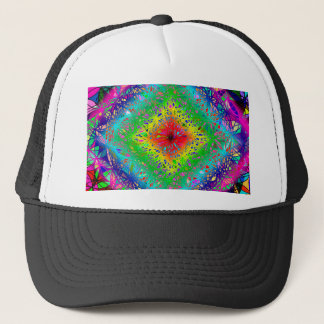 Psychedeli colors and Crystal Trucker Hat