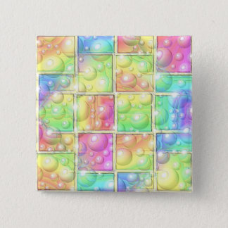 Psychedelic 2 Inch Square Button