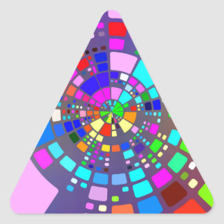Psychedelic #2 triangle sticker