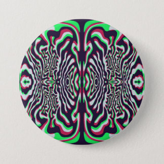 Psychedelic 3 Inch Round Button