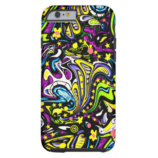 Psychedelic 60s Abstract Art Tough iPhone 6 Case
