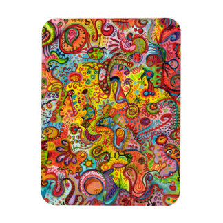 Psychedelic Abstract Art Premium Magnet