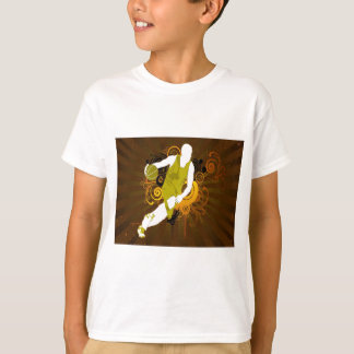 psychedelic abstract basketball T-Shirt