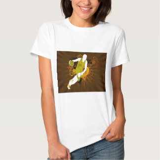 psychedelic abstract basketball tee shirt