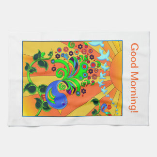 Psychedelic Abstract Bird Kitchen Towel