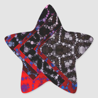 Psychedelic Abstract Cheetah Pattern Star Sticker