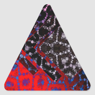 Psychedelic Abstract Cheetah Pattern Triangle Sticker