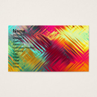 Psychedelic Abstract Colorful Pattern Business Card