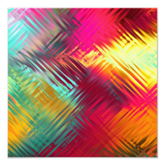 Psychedelic Abstract Colorful Pattern Photographic Print