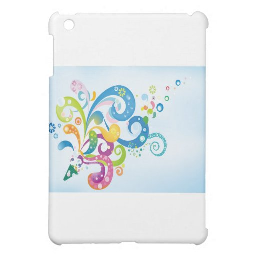psychedelic abstract colour splash case for the iPad mini