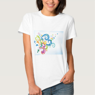 psychedelic abstract colour splash shirts