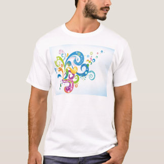 psychedelic abstract colour splash T-Shirt