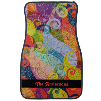 Psychedelic Abstract Design Car Mats Auto Mat