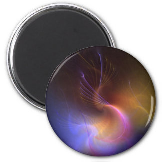 psychedelic abstract 2 inch round magnet