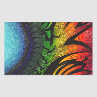 psychedelic abstract painting