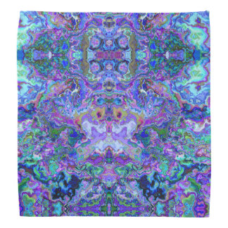 Psychedelic Abstract Purple and Teal Pattern Do-rag