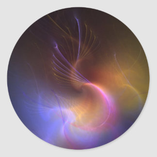 psychedelic abstract round sticker