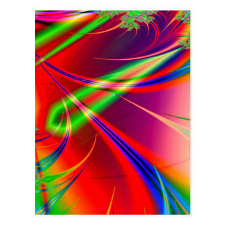 Psychedelic Abstract Shapes: Postcard