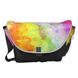 Psychedelic Abstract Watercolor Art Commuter Bags