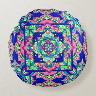 psychedelic Accent Pillow!! Round Pillow