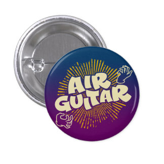 Psychedelic Air Guitar Retro Flair Pinback 1 Inch Round Button