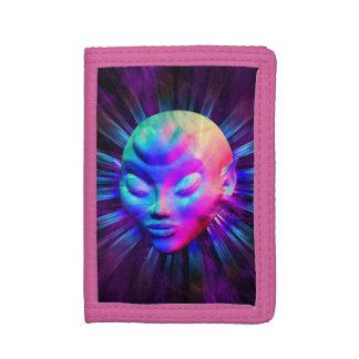 Psychedelic Alien Meditation Wallet