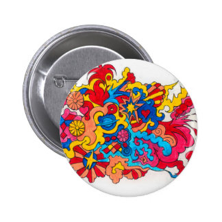 Psychedelic America 2 Inch Round Button