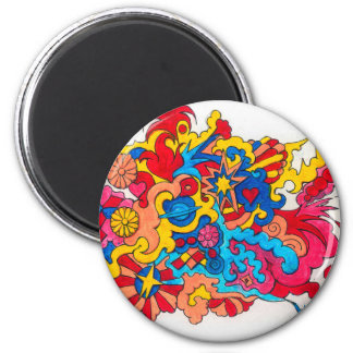 Psychedelic America Magnet