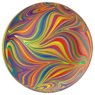 Psychedelic and trippy. plate