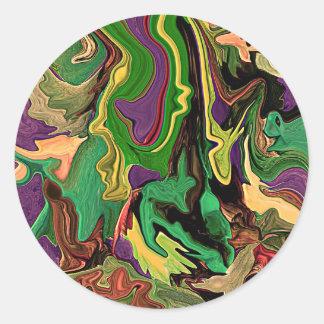 Psychedelic Art design sticker