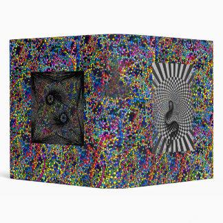 Psychedelic Art Yin Yang Snake Binder