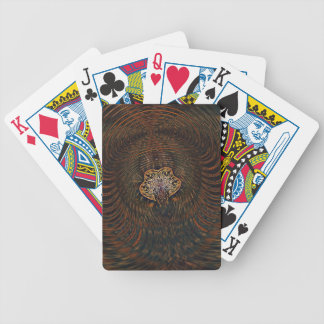 Psychedelic Atom Bicycle Playing Cards