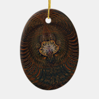 Psychedelic Atom Ceramic Ornament
