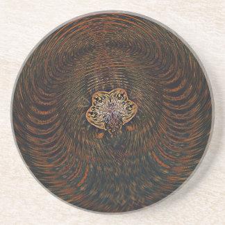 Psychedelic Atom Coaster