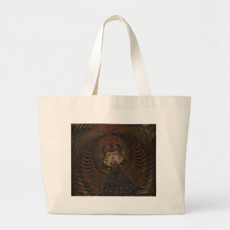 Psychedelic Atom Large Tote Bag