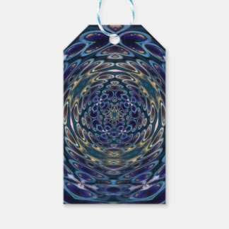 Psychedelic Atom Portal Pattern Gift Tags