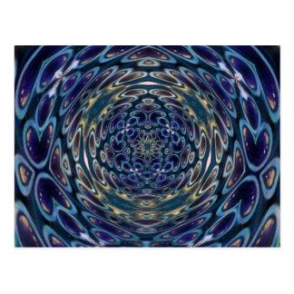 Psychedelic Atom Portal Pattern Postcard