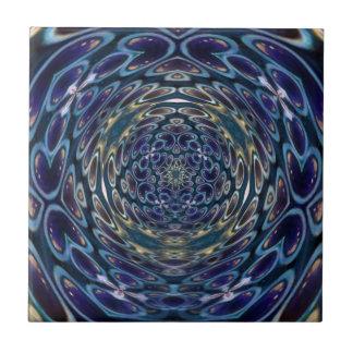Psychedelic Atom Portal Pattern Tile