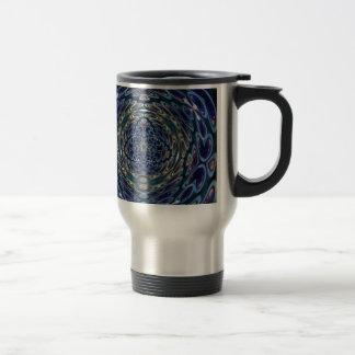 Psychedelic Atom Portal Pattern Travel Mug