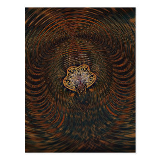 Psychedelic Atom Postcard