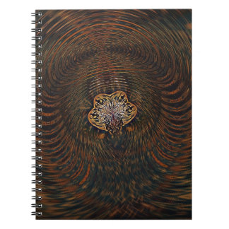Psychedelic Atom Spiral Notebook