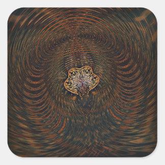 Psychedelic Atom Square Sticker