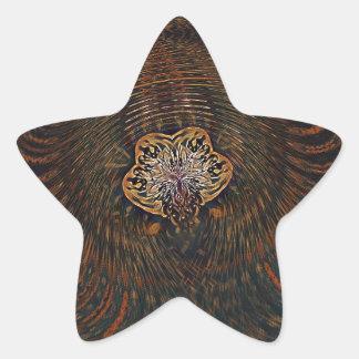 Psychedelic Atom Star Sticker