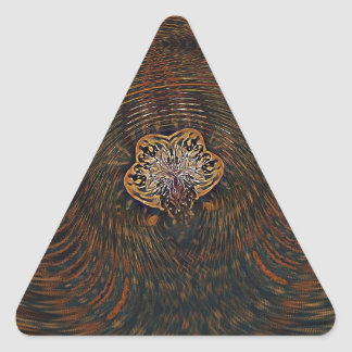 Psychedelic Atom Triangle Sticker