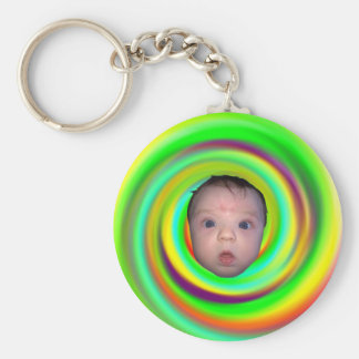 Psychedelic Baby Basic Round Button Keychain