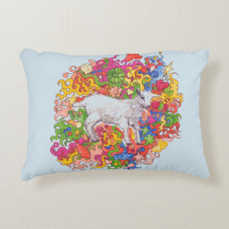 Psychedelic Baby Goat Decorative Pillow