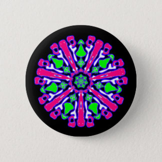Psychedelic badge coloured n°4 2 inch round button