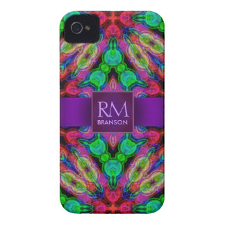 Psychedelic Batik Monogram iPhone4 Case-Mate™ Case-Mate iPhone 4 Cases